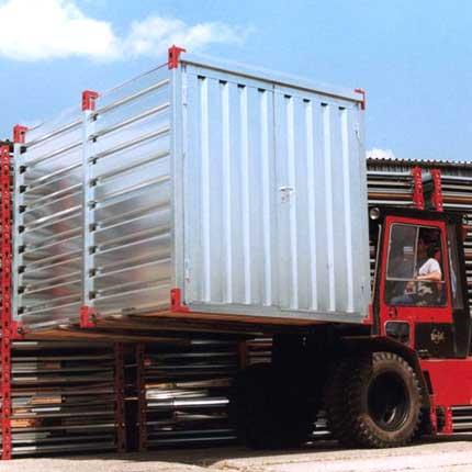 Lieferung von Schnellbau-Container