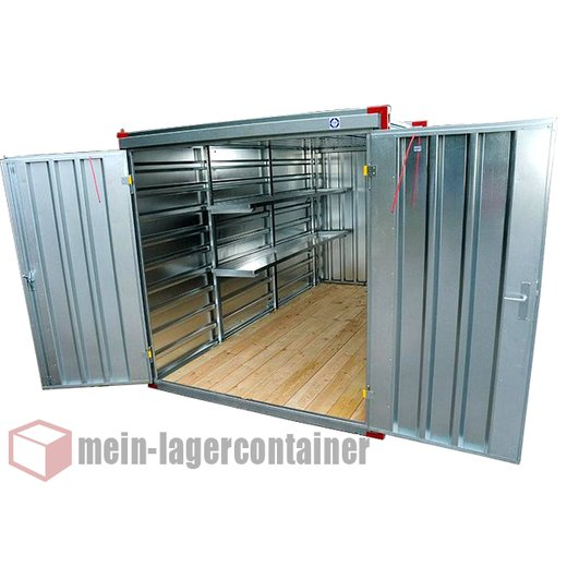 2,25m Leichtbaucontainer Lagercontainer Blechcontainer Garage Baustelle Container