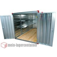 3m Leichtbaucontainer Lagercontainer Blechcontainer...