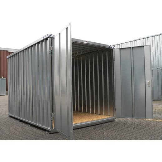 2m Materialcontainer Schnellbaucontainer Lagerbox Reifenlager