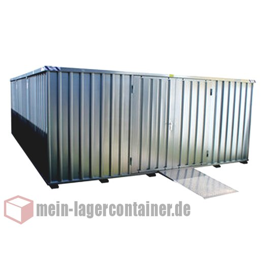 4x4m Materialcontainer Höhe 2,4m Lagerhalle Stahlhalle Reifenlager Schnellbauhalle Lager Halle Materiallager