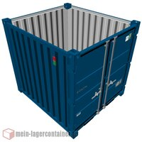 8 Fuß Materialcontainer Lagercontainer massiv...